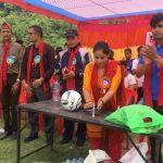 धादिङको गजुरीमा क्वीस कप अन्तर विद्यालय छात्र तथा छात्रा फुटबल प्रतियोगिता सुरु